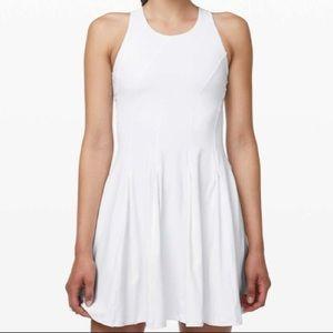NWOT Lululemon Court Crush Tennis Dress in White